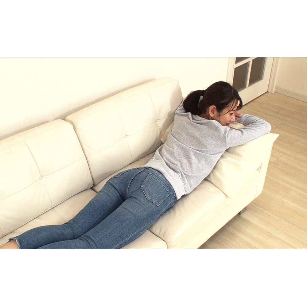 ダブルヒートEMS 寝転がりながらも使えます!