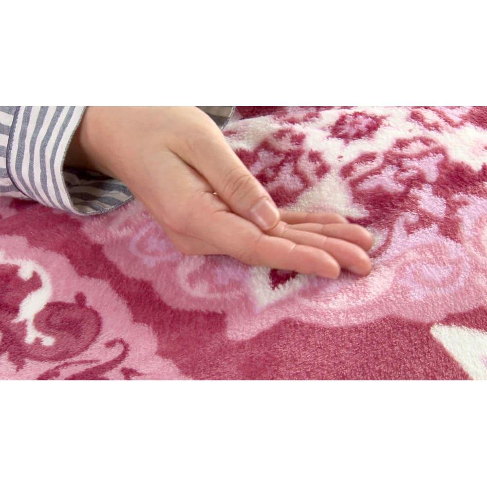 ぽかぽか毛布仕立ての布団カバー(シングル) 表面には極細のマイクロファイバー生地を採用!