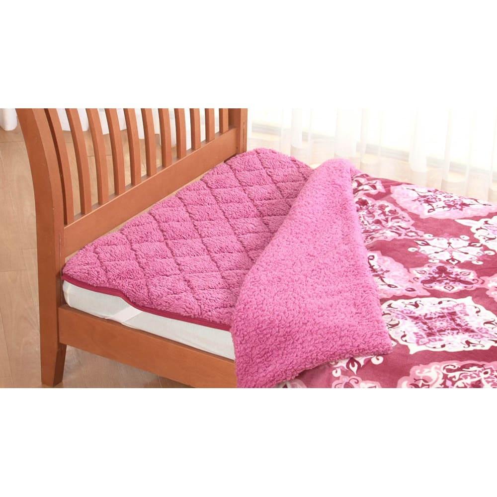 布団の老舗・西川 毛布仕立て布団カバー(ダブル) (ア)ピンク ※敷きパッドは別売りです