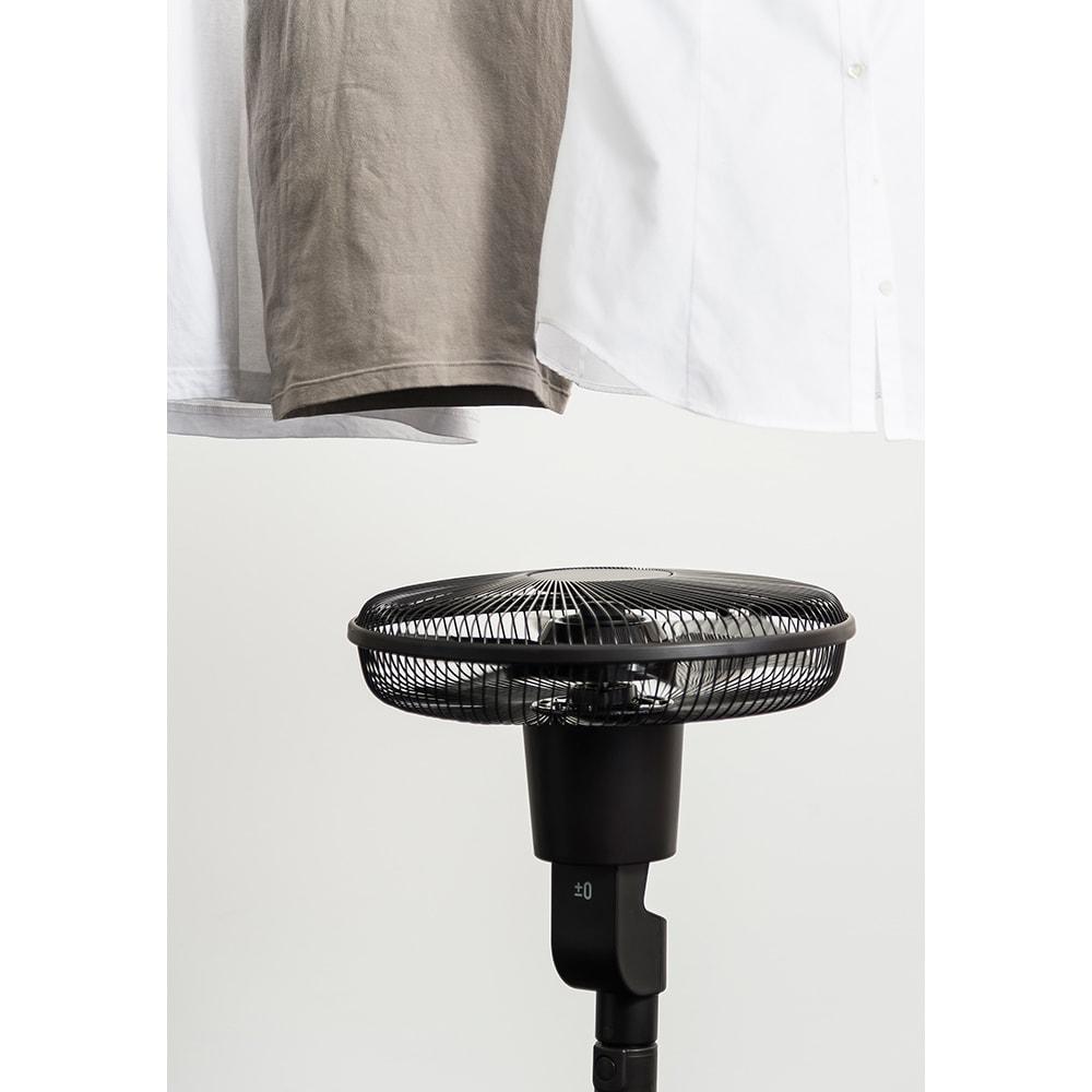 ±0/プラスマイナスゼロ ナチュラルエアーファン 梅雨時の洗濯物の乾燥やエアコンの風の攪拌など、サーキュレーターのように使えます。