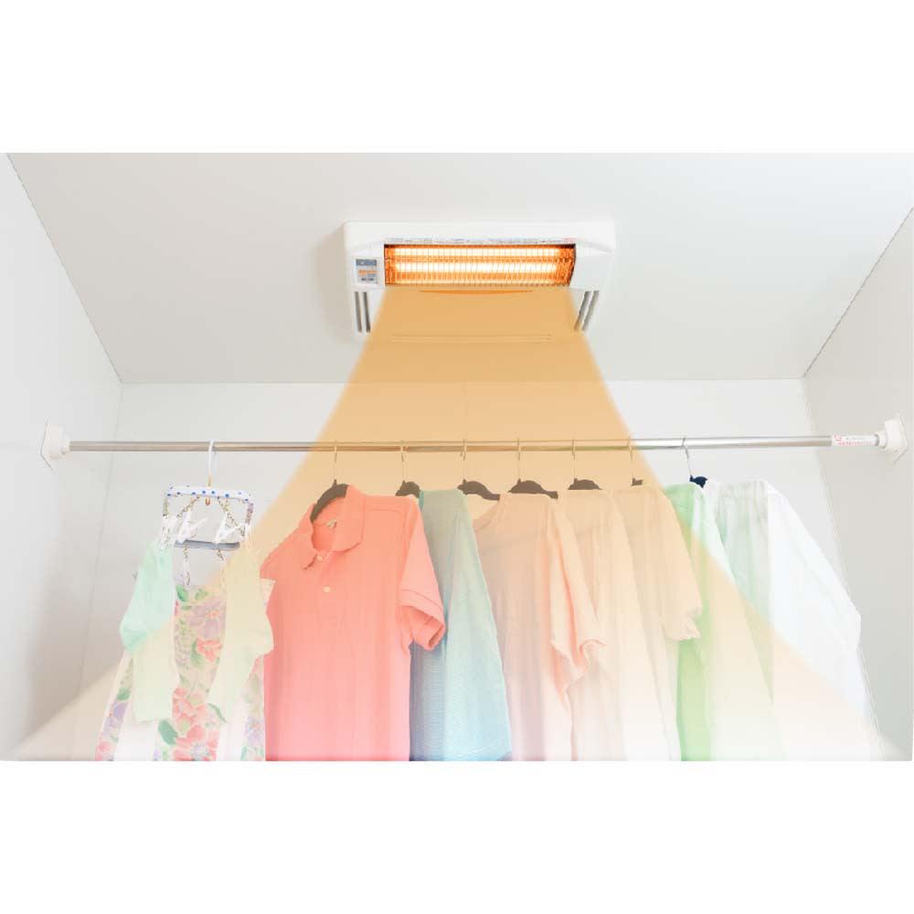 浴室換気乾燥暖房機(標準取り付け工事付き) 【一年中使える衣類乾燥!】花粉や梅雨の時期に嬉しい衣類乾燥も可能!特典のランドリーパイプが大活躍!