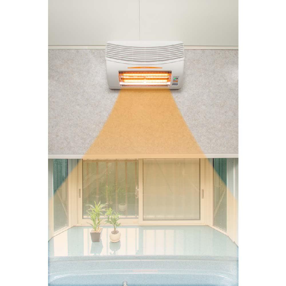 浴室換気乾燥暖房機(標準取り付け工事付き) 【安心の日本製】開発から設計・組立に至るまで、自社製造と国内生産にこだわっている換気扇専業メーカーがつくっています。