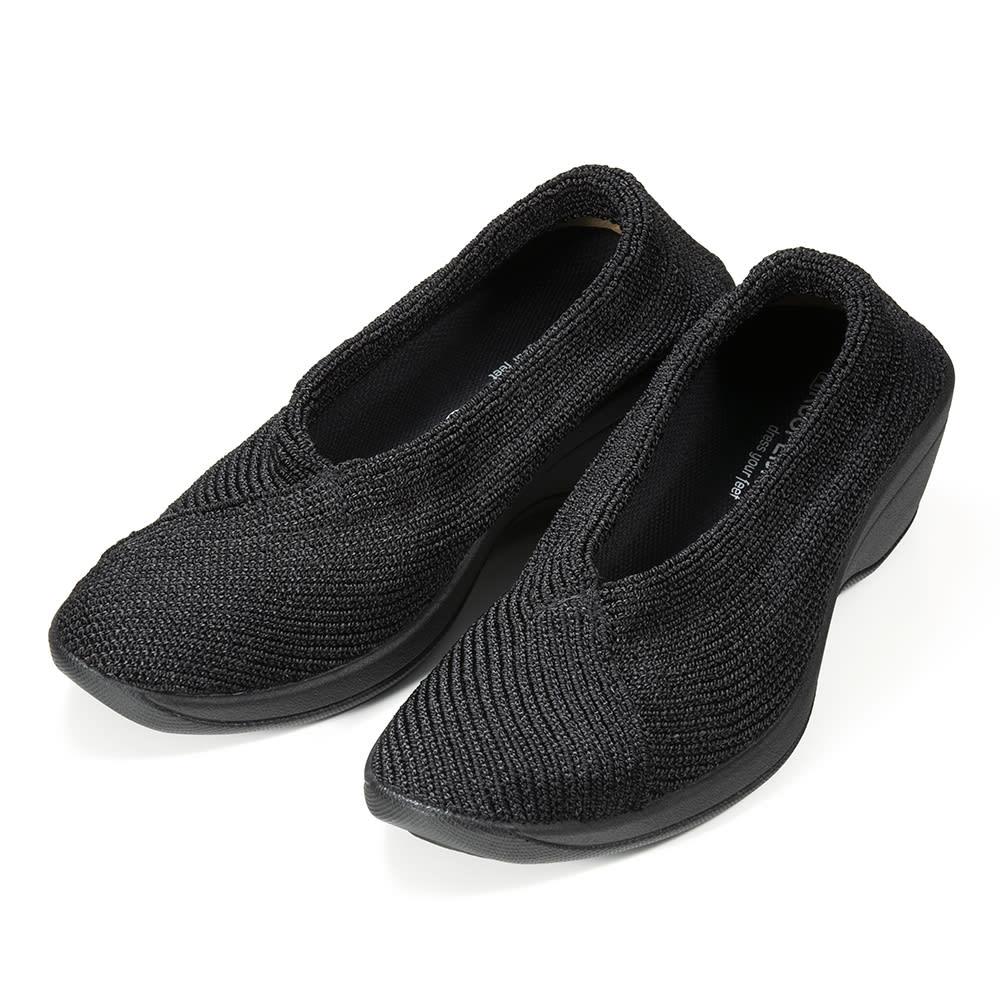 ARCOPEDICO/アルコペディコ ニットパンプス(マイル) (ア)ブラック…定番のブラックはとにかく使いやすい。足元が締まって見えるのも嬉しい。