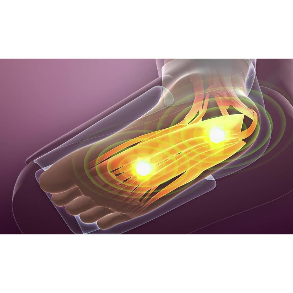 リフレキュット 【足裏EMS】エアーバッグと同時にEMSが足裏を刺激。通常サロンエステでは別々に行われるもので、同時にできるのはスゴイ!