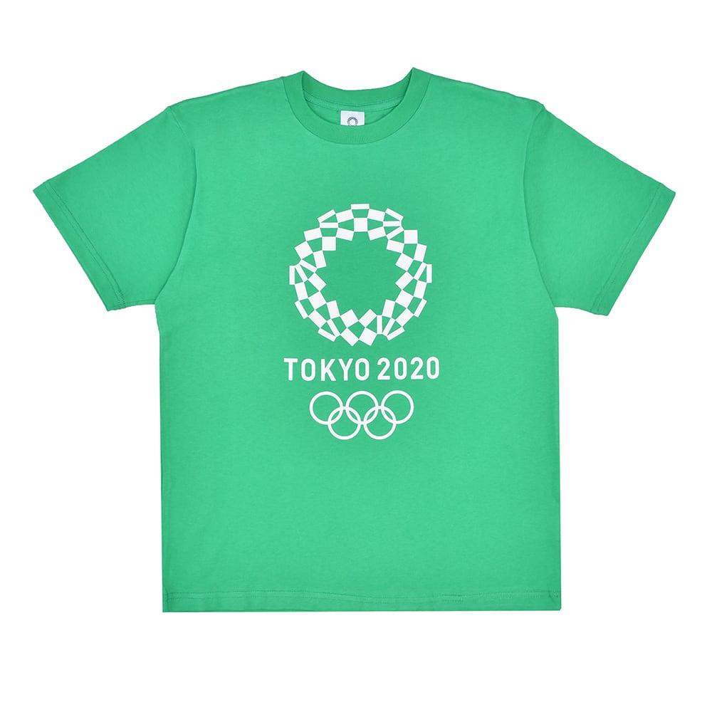 エンブレムプリント Tシャツ YO-20(東京2020 オリンピックエンブレム) (エ)グリーン