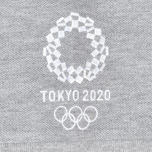 袖刺繍 ポロシャツ YO-08(東京2020 オリンピックエンブレム) (イ)グレー
