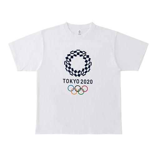 プリント Tシャツ YO-130(東京2020 オリンピックエンブレム) (ア)ホワイト
