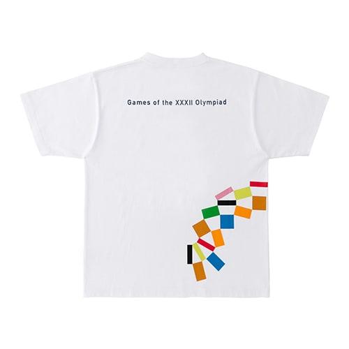 プリント Tシャツ YO-130(東京2020 オリンピックエンブレム) (ア)ホワイト BACK