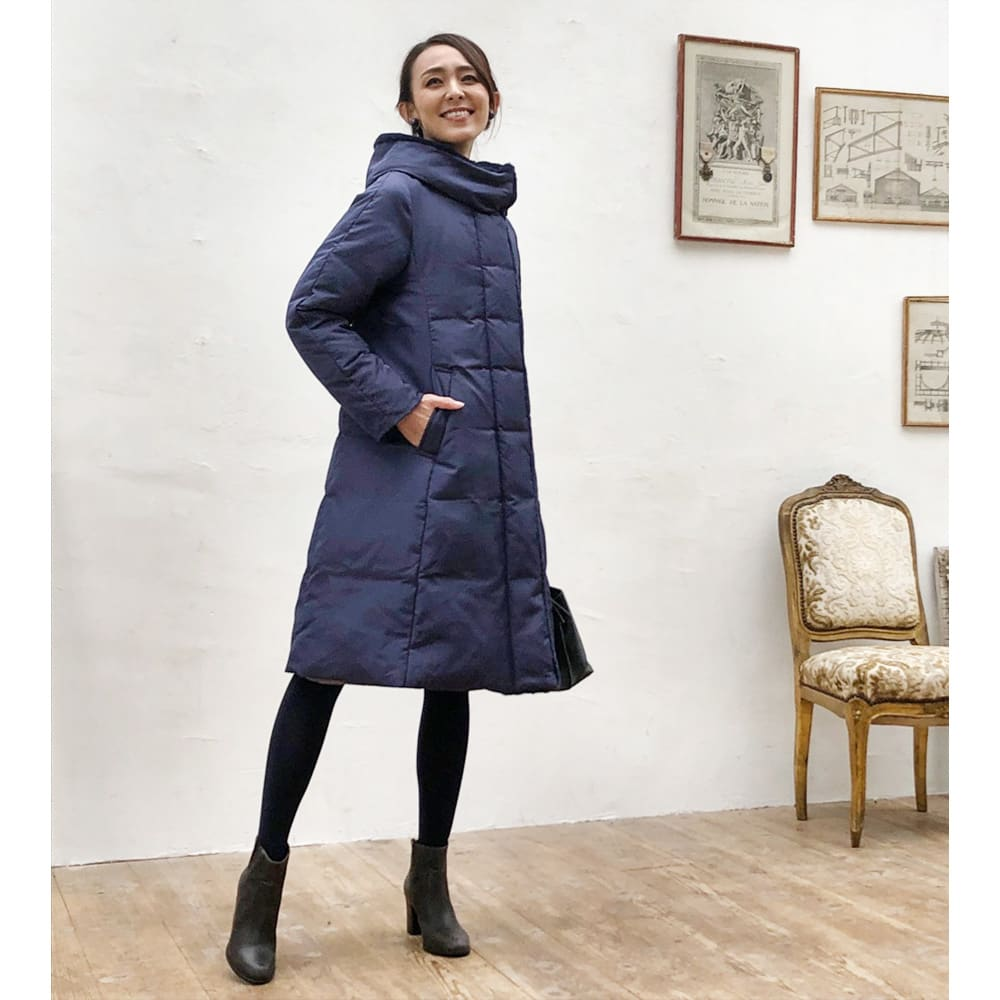 美シルエット ロングダウンコート ほっそりスタイル良く見せてくれる『美シルエットロングダウンコート』の最新作が登場!