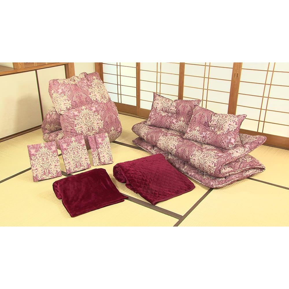 西川の特選寝具 ダブルセット(8点+特典2点付き) 「届いてすぐ使える」フルセットをお届け!他に何も買い足す必要はありません。