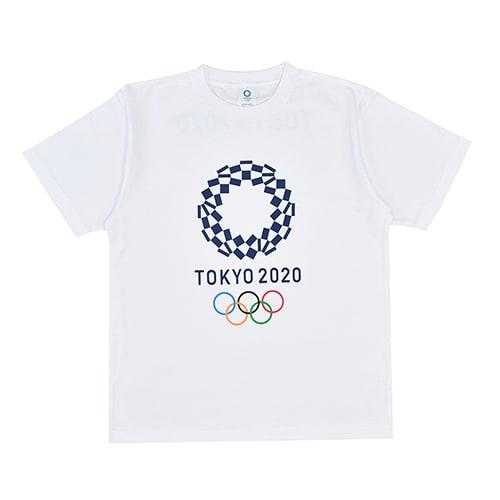 エンブレムプリント Tシャツ YO-20(東京2020 オリンピックエンブレム) (イ)ホワイト