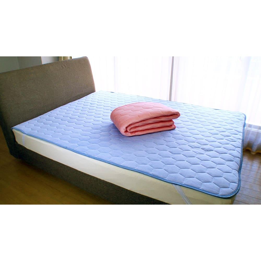 テレビ放送商品 寝具 敷きパッド ひんやり除湿寝具 デオアイス 敷きパッドNEO(ダブル) AR1723
