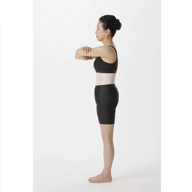 骨盤ベルトスリムニッパー(色・サイズが選べる2枚組) 着用中:瞬時にスッキリ! ※個人差があり、結果を保証するものではありません