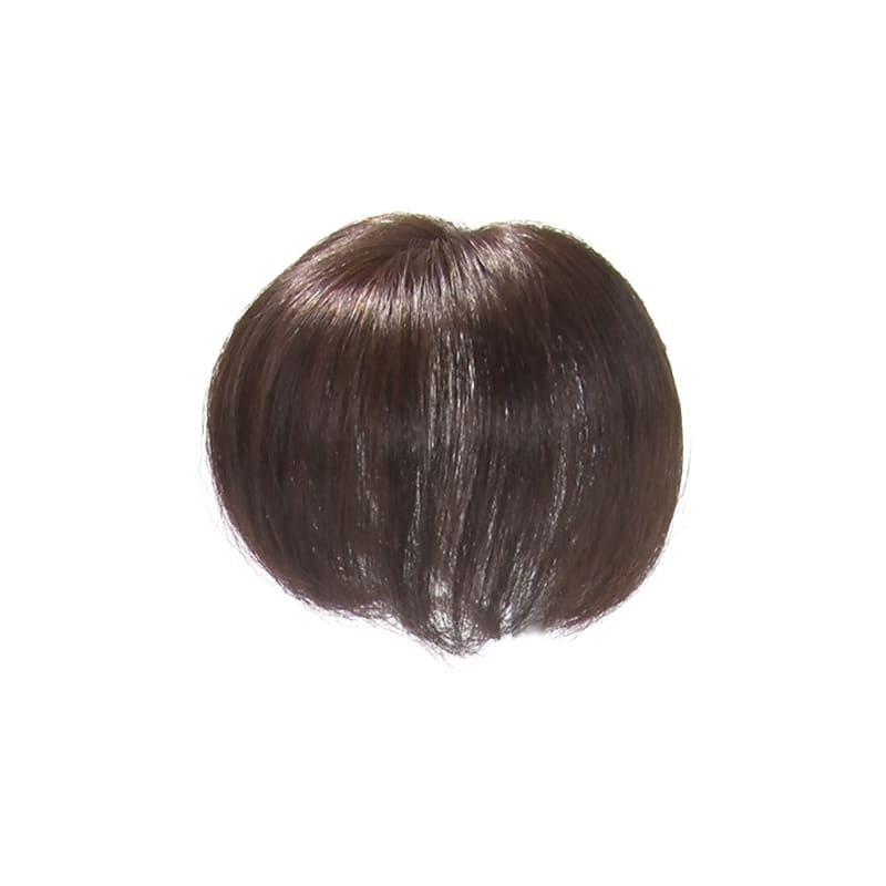 人毛100%ファッションウィッグ(部分タイプ) (イ)ダークブラウン(栗色)…カラーリングをしている方におすすめのナチュラルなブラウン系。 ※色に迷う場合は (イ)ダークブラウンをおすすめします。
