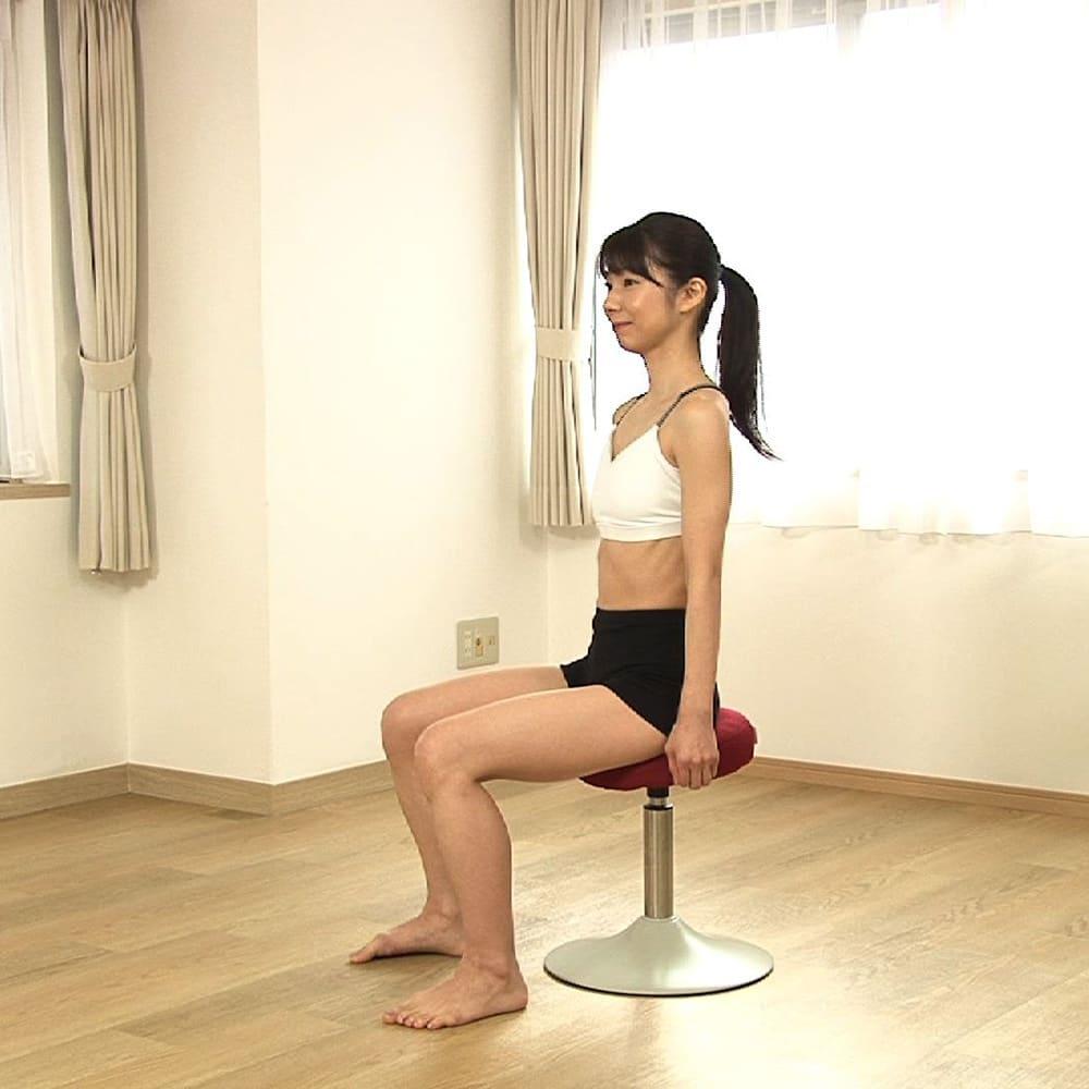 MIZUNO/ミズノ スクワットスリールα(アルファ) シリンダーが上昇時の動作を程よくサポート。良い姿勢をキープしやすく、ヒザや腰にかかる負荷を軽減!
