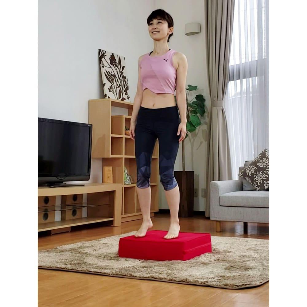 パーフェクトエクサ(R) 簡単!つま先が離れない程度の動きで全身運動に ポンポン弾んでるうちに、体がすぐに温かく。お家時間の強い味方に