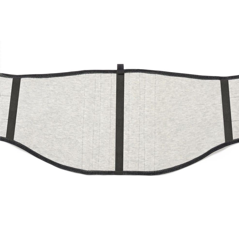 ターボセル プレミアムベルトコア 幅がスリムで、腰骨に当たらないようカーブを付けました。長時間着用しても苦しさを感じにくい形状です。