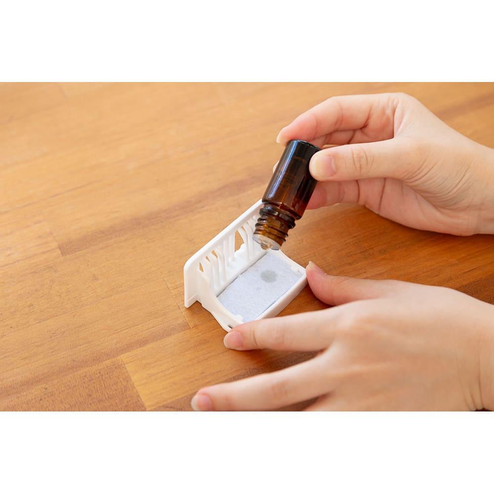 ハイブリッド抗菌加湿器 アクアバースト アロマを入れて、お好みの香りをお楽しみください。(※アロマオイルは付属していません。)