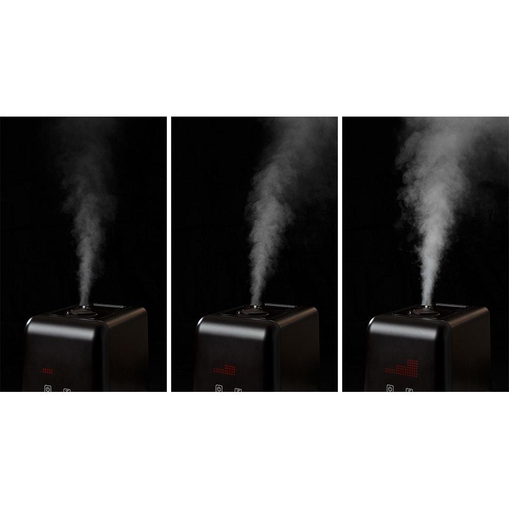 ハイブリッド抗菌加湿器 アクアバースト 加湿レベルも3段階で選べます