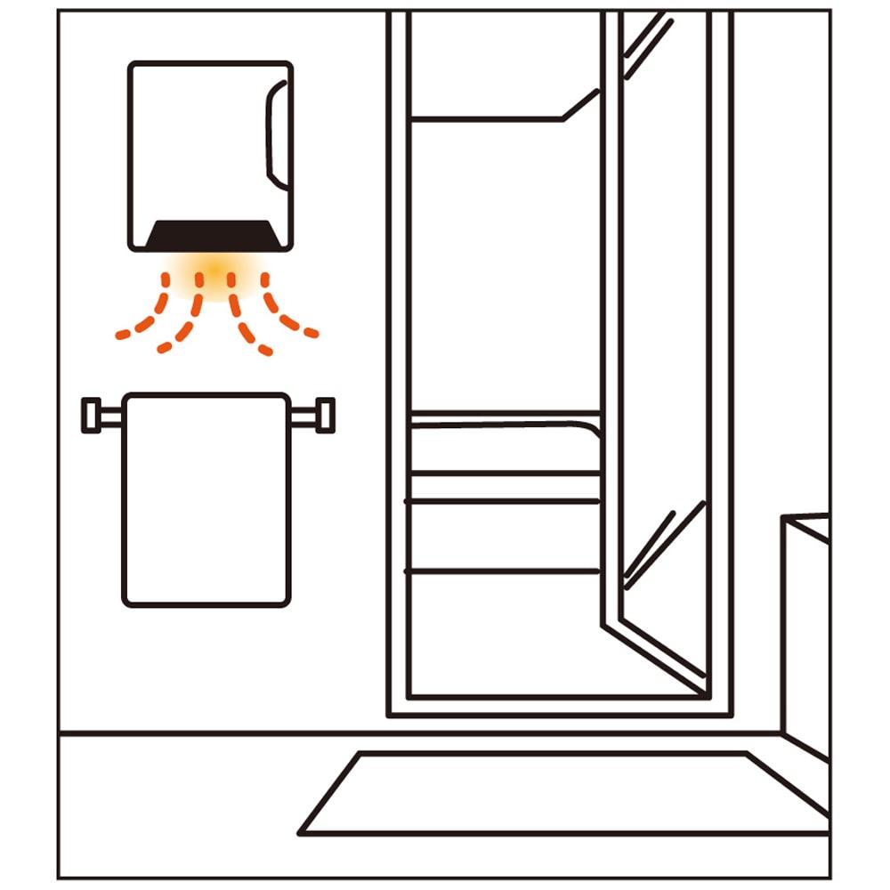 人感センサー付 壁掛け脱衣所ヒーター 脱衣所におすすめ。