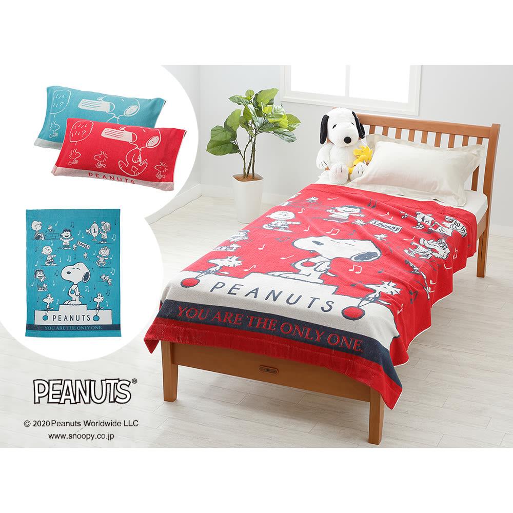 スヌーピー タオルケット&枕カバー お得な2色セット ※ぬいぐるみは商品に含まれません