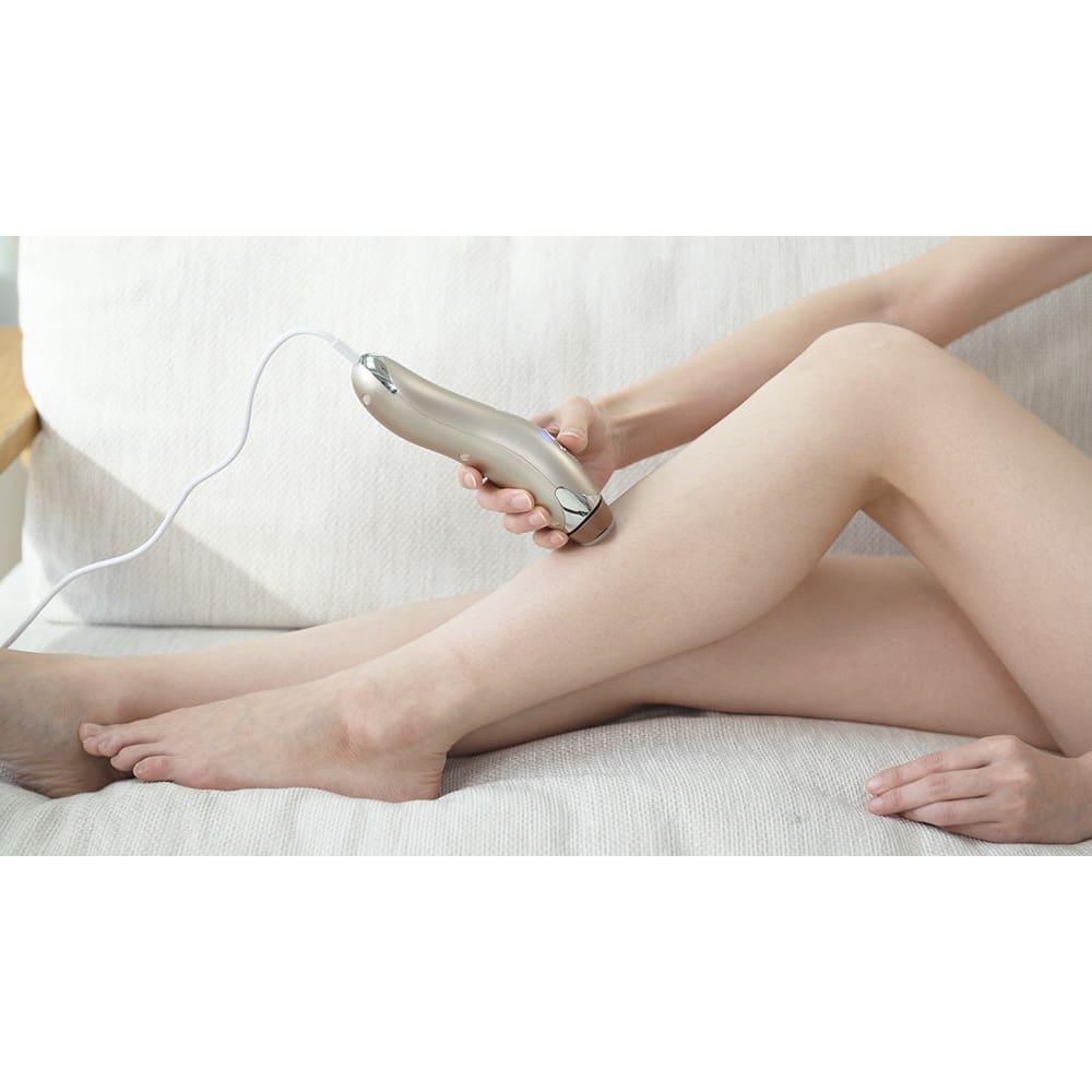 TBC ヒカリビューティ3 広い範囲の脚は連射が便利!