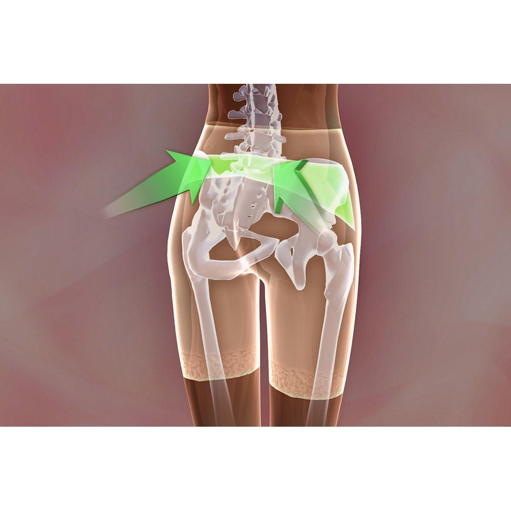 芦屋美整体 骨盤プロリセットショーツ プレミアム(色サイズが選べる3枚組) 左右ズレ対策:仙骨パネルが仙骨回りの筋肉にアプローチし、左右のズレを調整します