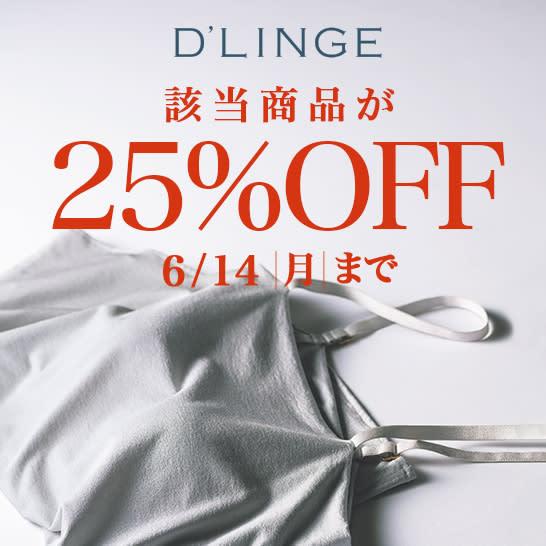 週末限定 D' LINGE カップ付きインナー