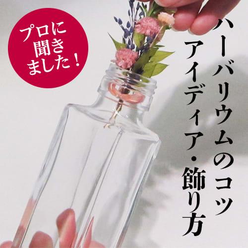 プロに聞く!ハーバリウムのおすすめ花材・オイルの取り扱い・飾り方