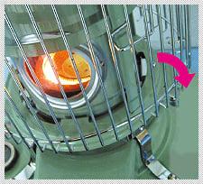 6、点火後は速やかに上枠を戻し、上枠クリップが完全に締まった事を確認してください。