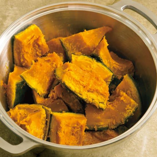 無水鍋で作るかぼちゃの甘煮