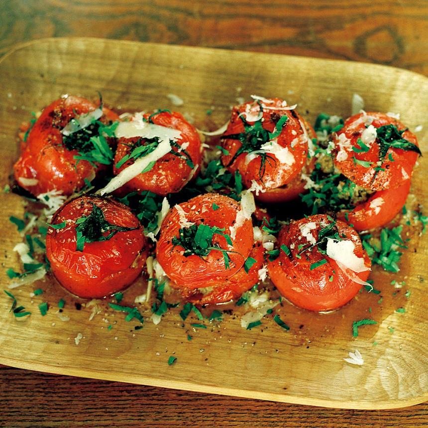 #08 鉄フライパンで作る トマトのファルシ