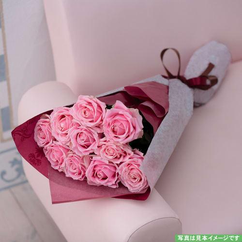 ピンクのバラのシンプルな花束<br>5,500円(税込)