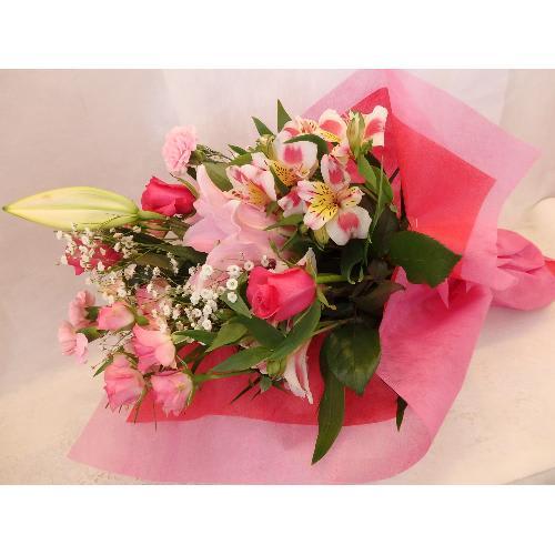 ソルボンヌ〜ピンクのユリの花束〜<br>5,500円(税込)