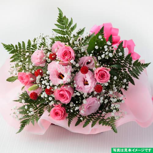 1位<br>【送料無料】バラとトルコギキョウのエレガントなブーケ<br>3,300円(税込)