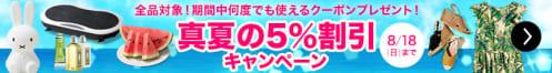 真夏の5%割引キャンペーン