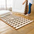 ダブル(気になる湿気対策に薄型・軽量桐天然木すのこベッド 3つ折りタイプ)