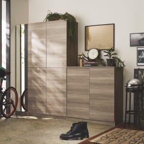 インテリアに合わせて8色&13タイプから選べるシューズボックス 扉 幅90高さ180.5cm