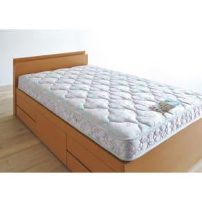 【シングル】フランスベッド 羊毛入りハイグレードマルチラスマットレス 抗菌・防ダニ・防臭加工