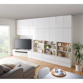 コーナーテレビ台壁面収納シリーズ 幅150cmTV台左壁設置用