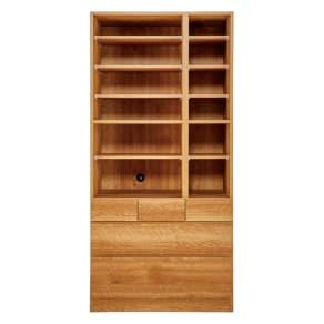 天然木調 リビング壁面収納シリーズ 収納庫 オープン棚タイプ 幅86cm