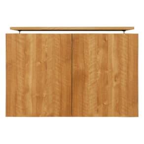 天然木調リビング壁面収納シリーズ オーダー対応突っ張り式上置き(1cm単位) 幅89.5cm・高さ26~90cm