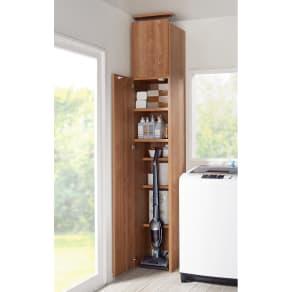 日用品もしまえる頑丈段違い書棚 ヴィンテージ木目調タイプ 書棚 幅40cm