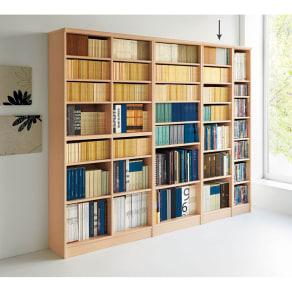 色とサイズが選べるオープン本棚 幅44.5cm高さ178cm