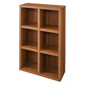 【完成品】重厚感のあるがっちり本棚シリーズ シェルフ 幅75高さ114奥行30cm