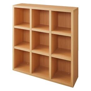 【完成品】重厚感のあるがっちり本棚シリーズ シェルフ 幅110高さ114奥行30cm
