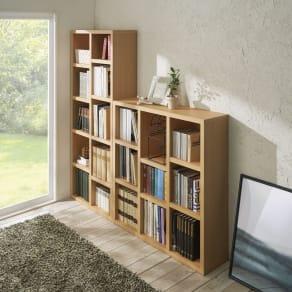 【完成品】重厚感のあるがっちり本棚シリーズ シェルフ 幅75高さ180奥行30cm