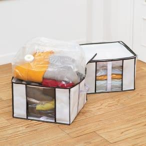 衣類用圧縮収納ボックス 4個組
