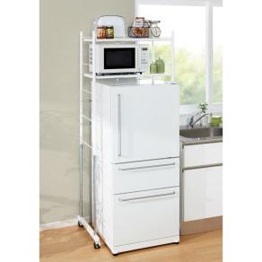 幅と高さが伸縮するキッチンラック 2段