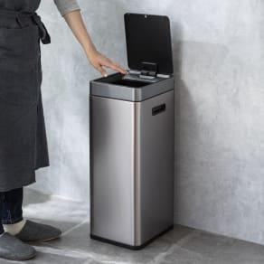 特典付き EKO ミラージュ 充電式センサービン スリム 容量30L ゴミ箱